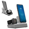 Stand De Încărcare 3-în-1 Aluminum Alloy - iPhone, Ceas Apple Watch, Căști AirPods