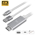 Adaptor 4K UHD Lightning / HDMI 4smarts - iPhone, iPad, iPod - 1.8m