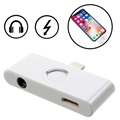 Adaptor Lightning și Audio 3.5mm Cu Buton Home iPhone X - Argintiu