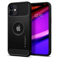 Husă iPhone 12 Mini - Spigen Rugged Armor - Negru