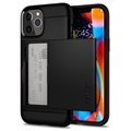 Husă iPhone 12/12 Pro - Spigen Slim Armor CS - Negru