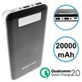Acumulator Extern Power Bank Green Cell PB93 Qualcomm QC 2.0 - 20000mAh - Negru